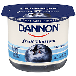 Dannon Blueberry Fruit on the Bottom Yogurt