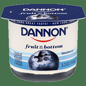 Dannon Blueberry Fruit on the Bottom Yogurt