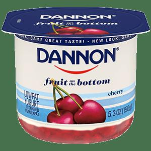 Dannon Cherry Fruit on the Bottom Yogurt