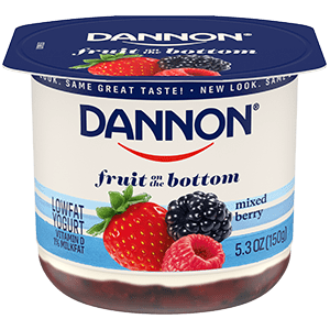 Dannon Mixed Berry Fruit on the Bottom Yogurt