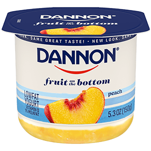 Dannon Peach Fruit on the Bottom Yogurt