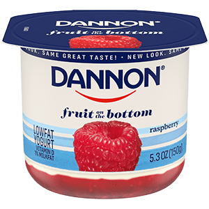 Dannon Raspberry Fruit on the Bottom Yogurt