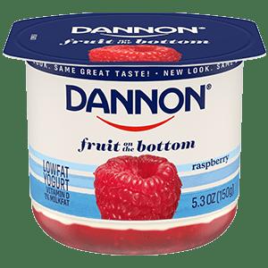 Dannon Raspberry Fruit on the Bottom Yogurt