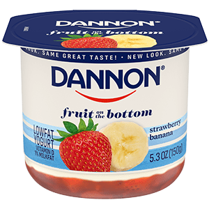 Dannon Strawberry Banana Fruit on the Bottom Yogurt