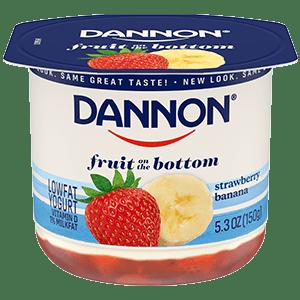 Dannon Strawberry Banana Fruit on the Bottom Yogurt