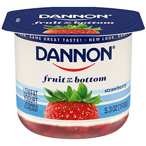 Dannon Strawberry Fruit on the Bottom Yogurt