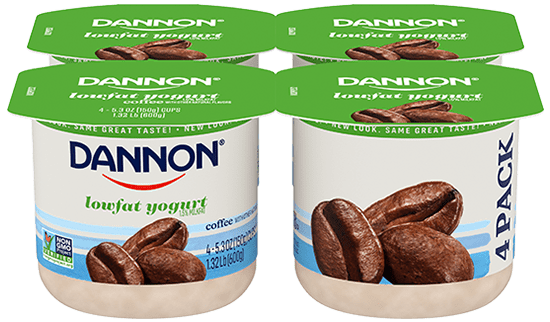 Dannon Coffee Lowfat Yogurt 4 Pack