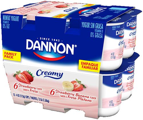 Dannon Creamy Nonfat Yogurt - Banana