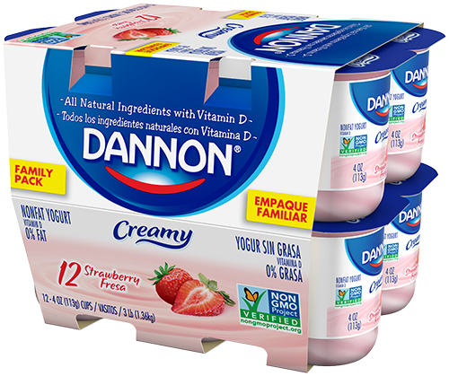 creamy nonfat yogurt strawberry
