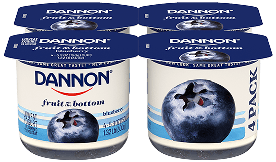 Dannon Blueberry Fruit on the Bottom Yogurt 4 Pack