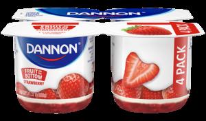 Dannon Strawberry Fruit on the Bottom Yogurt 4 Pack