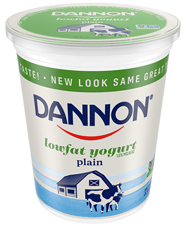 Dannon Plain Lowfat Yogurt Quart