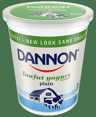 Dannon Plain Lowfat Yogurt Quart