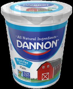 Dannon Plain Nonfat Yogurt Quart