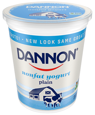 Dannon Plain Nonfat Yogurt Quart