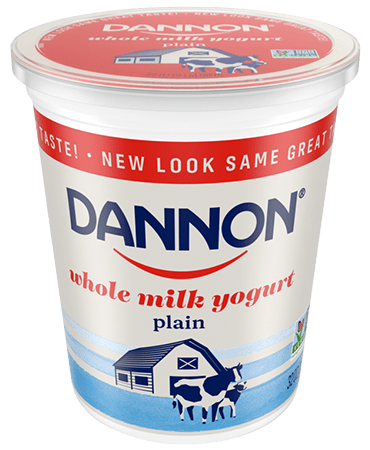 Dannon plain Whole Milk Yogurt Quart