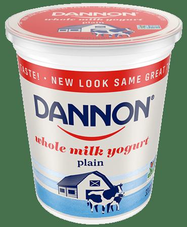 Dannon plain Whole Milk Yogurt Quart