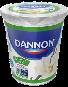 Dannon Vanilla Lowfat Yogurt Quart