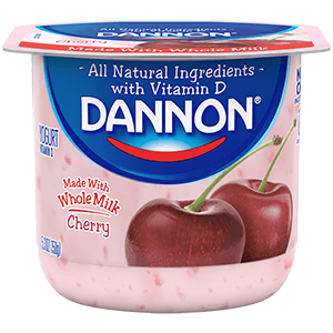 Dannon Whole Milk Yogurt - Cherry