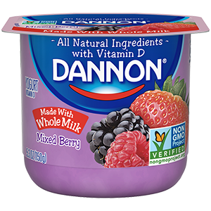 Dannon Mixed Berry Whole Milk Yogurt