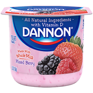 Dannon Whole Milk Yogurt - Mixed Berry