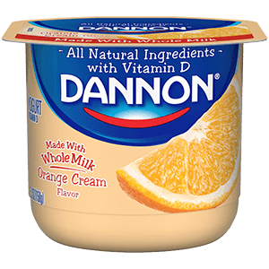 Dannon Whole Milk Yogurt - Orange Cream