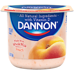 Dannon Whole Milk Yogurt - Peach