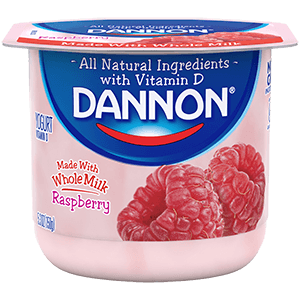 Dannon Whole Milk Yogurt - Raspberry