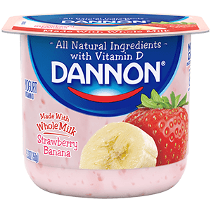 Dannon Whole Milk Yogurt - Strawberry Banana