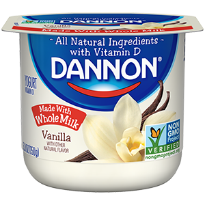 Dannon Vanilla Whole Milk Yogurt