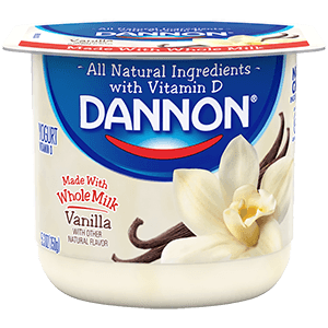 Dannon Whole Milk Yogurt - Vanilla
