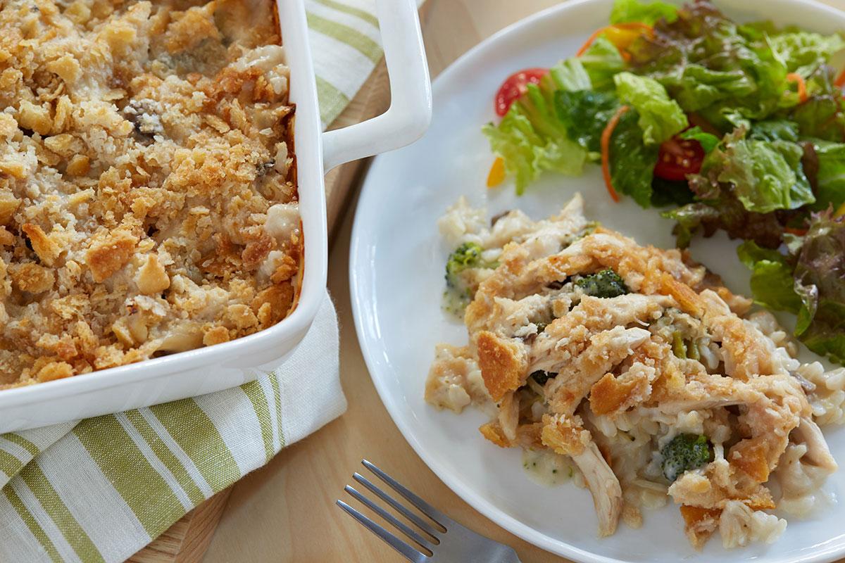 Creamy Chicken & Brown Rice Casserole