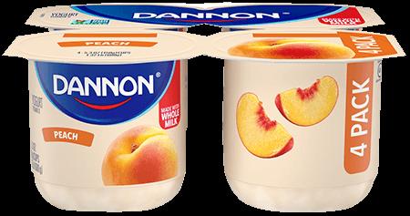 Dannon Peach Whole Milk Yogurt 4 Pack