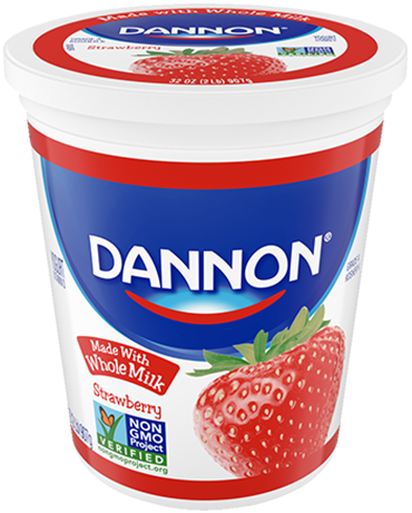 Dannon Whole Milk Yogurt - Strawberry Quart
