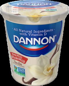 Dannon Whole Milk Yogurt - Vanilla Quart