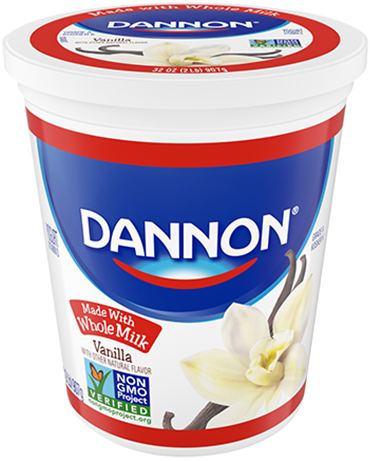 Dannon Whole Milk Yogurt - Vanilla Quart