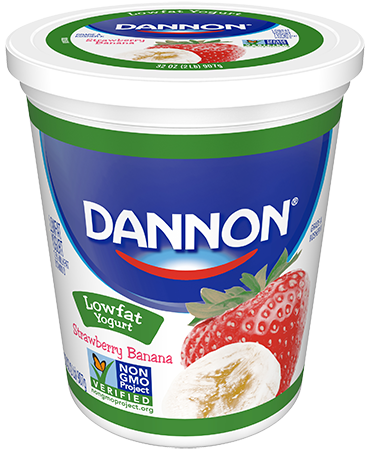 Dannon Strawberry-Banana Lowfat Yogurt Quart