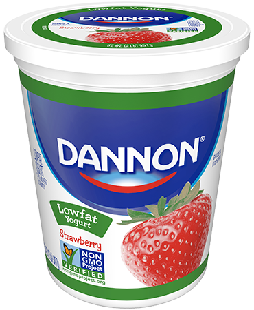Dannon Strawberry Lowfat Yogurt Quart